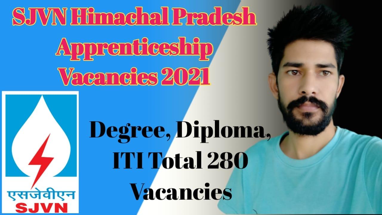 SJVN Himachal Pradesh Recruitments 2021 Apprenticeship Vacancies
